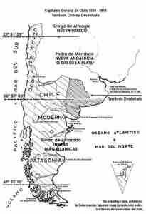 Mapa Capitania General de Chile