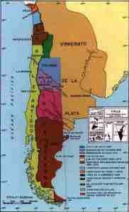Mapa de limites de Chile