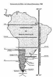 Mapa Gobernacion de Chile 1548