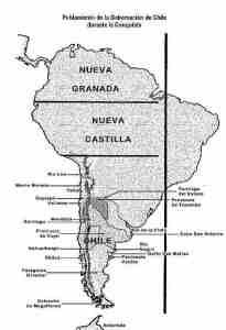 Mapa Poblamiento de la Gobernacion de Chile